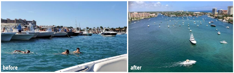 boating before & after
